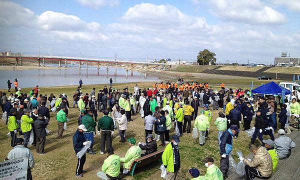 大和川・石川を皆の手できれいに