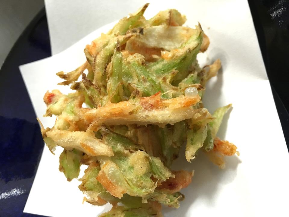 カタシモワイナリー林さんの天ぷら料理