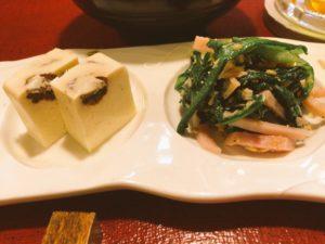 国産牛牛筋肉と旬の野菜の具た くさんスープと季節の三種盛