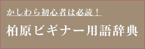 柏原ビギナー用語辞典